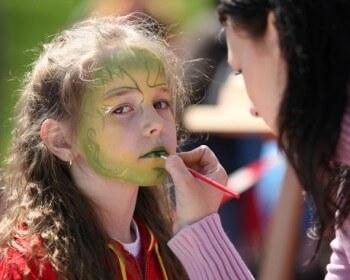 malování na obličej facepainting