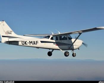 vyhlídkový let sportovním letadlem 4 místa