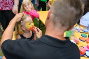 Malování na obličej - atrakce pro děti