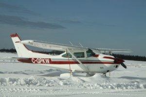 Zimní lety letadlem