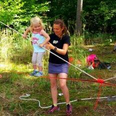 mobilní lanový park, slackline miniškola