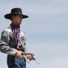 pistole flobert pronájem, kovboj